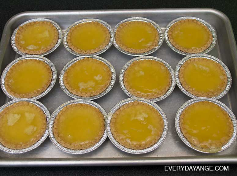 Lemon Meringue Pie jello shots on a pan