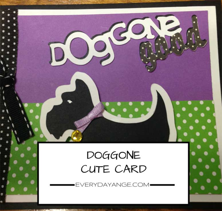 card making dog card cover