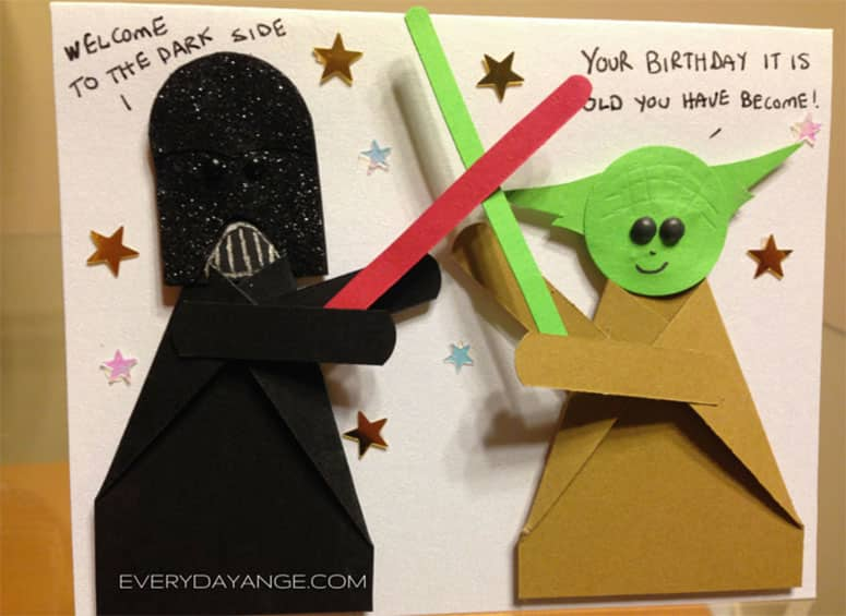 Star wars birthday card - Darth Vader VS Yoda Final