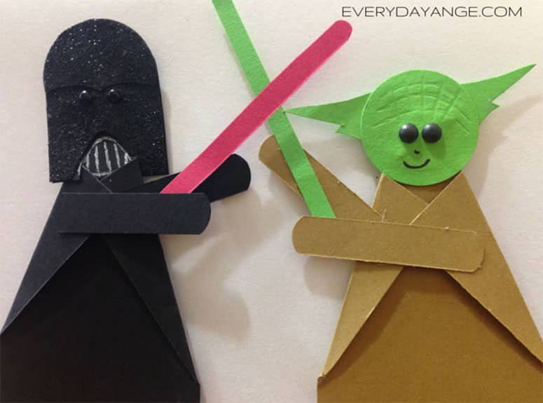 Star wars birthday card - Darth Vader VS Yoda